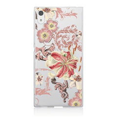 Sony Xperia Xa1 Floral Slim Back Case