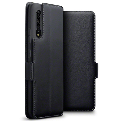 Terrapin Samsung Galaxy A90 5G Low Profile Genuine Leather Wallet Case - Black