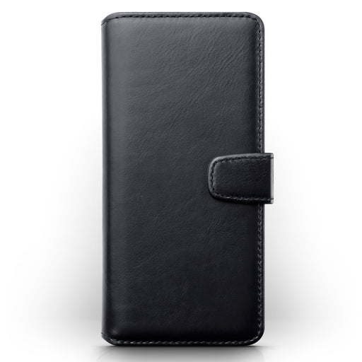 Terrapin Samsung Galaxy A90 5G Real Leather Wallet Case - Black