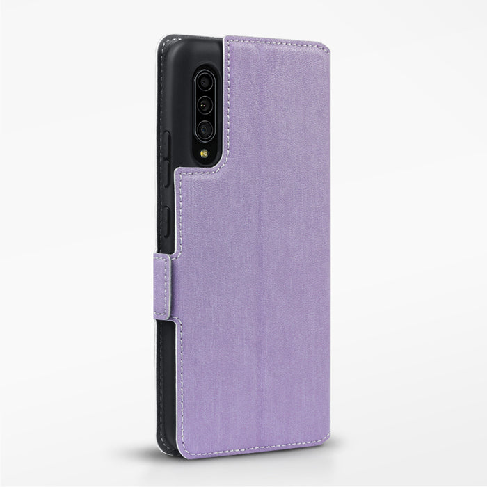 Terrapin Samsung Galaxy A90 5G Low Profile PU Leather Wallet Case - Purple