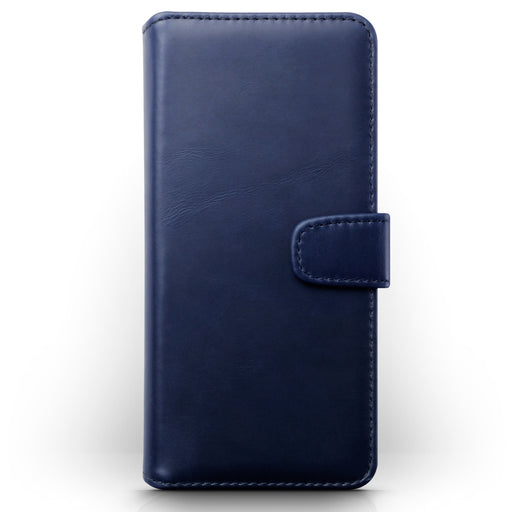 Terrapin Samsung Galaxy A70 Real Leather Wallet Case - Blue