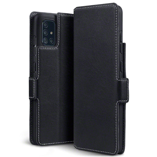 Terrapin Samsung Galaxy A51 Low Profile PU Leather Wallet Case - Black