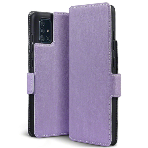 Terrapin Samsung Galaxy A51 Low Profile PU Leather Wallet Case - Purple