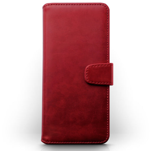 Terrapin Samsung Galaxy A71 Real Leather Wallet Case - Red
