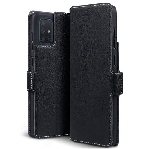 Terrapin Samsung Galaxy A71 Low Profile PU Leather Wallet Case - Black