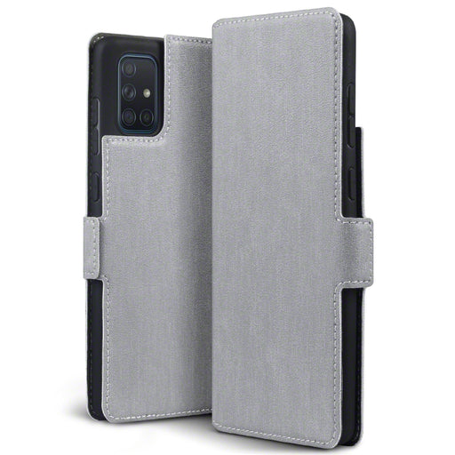 Terrapin Samsung Galaxy A71 Low Profile PU Leather Wallet Case - Grey
