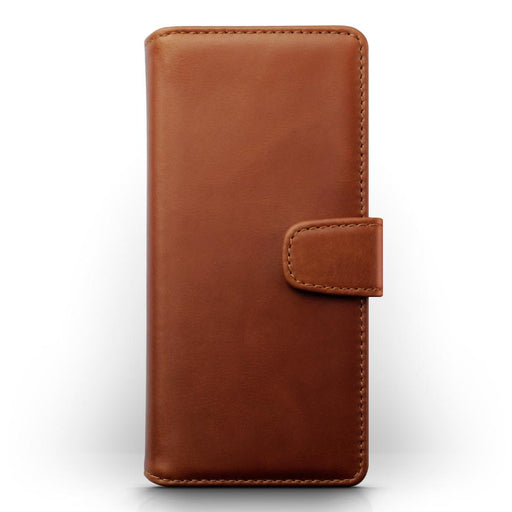 Terrapin Real Leather Wallet Case - Cognac for Samsung Galaxy S20 Plus