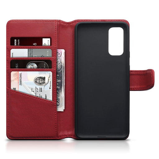 Terrapin Samsung Galaxy S20 Real Leather Wallet Case - Red