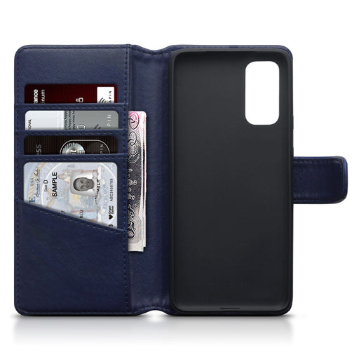 Terrapin Samsung Galaxy S20 Real Leather Wallet Case - Blue
