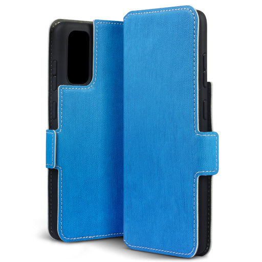 Terrapin Samsung Galaxy S11 Lite Low Profile PU Leather Wallet Case - Light Blue