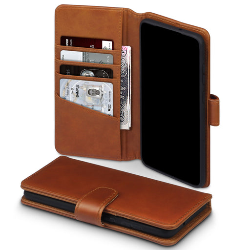 Terrapin Samsung Galaxy S20 Plus Real Leather Wallet Case - Cognac