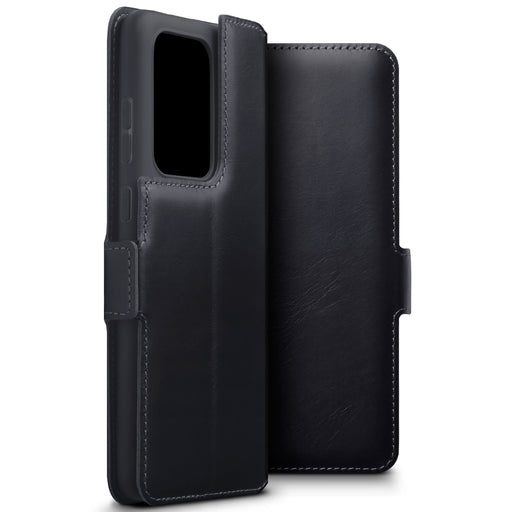 Terrapin Samsung Galaxy S20 Ultra Low Profile Genuine Leather Wallet Case - Black