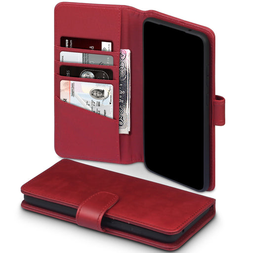 Terrapin Samsung Galaxy S20 Ultra Real Leather Wallet Case - Red