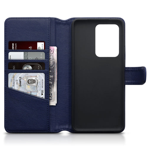 Terrapin Samsung Galaxy S20 Ultra Real Leather Wallet Case - Blue
