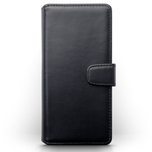 Terrapin Samsung Galaxy A91 Real Leather Wallet Case - Black