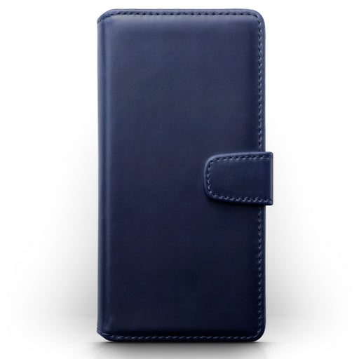 Terrapin Samsung Galaxy A91 Real Leather Wallet Case - Blue