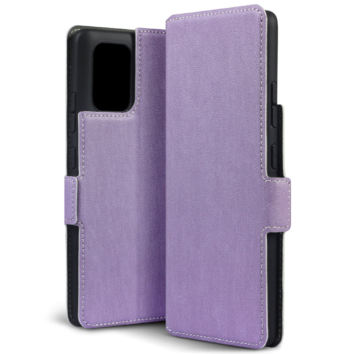 Terrapin Samsung Galaxy A91 Low Profile PU Leather Wallet Case - Purple