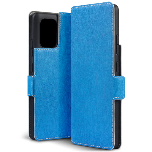 Terrapin Samsung Galaxy A91 Low Profile PU Leather Wallet Case - Light Blue