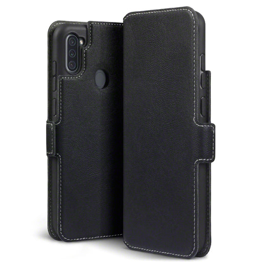 Terrapin Samsung Galaxy A11 Low Profile PU Leather Wallet Case - Black
