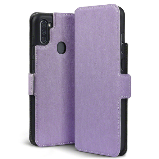 Terrapin Samsung Galaxy A11 Low Profile PU Leather Wallet Case - Purple