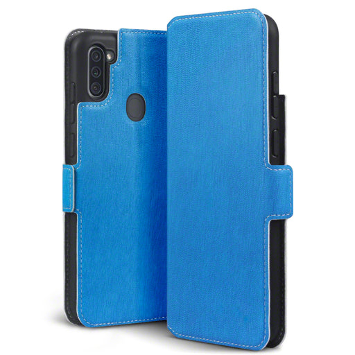 Terrapin Samsung Galaxy A11 Low Profile PU Leather Wallet Case - Light Blue