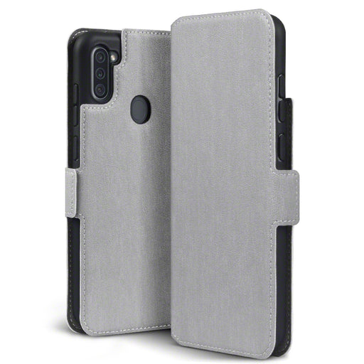 Terrapin Samsung Galaxy A11 Low Profile PU Leather Wallet Case - Grey