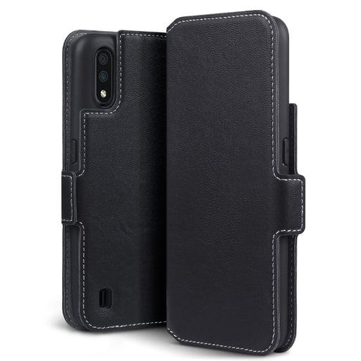 Terrapin Samsung Galaxy A01 Low Profile PU Leather Wallet Case - Black