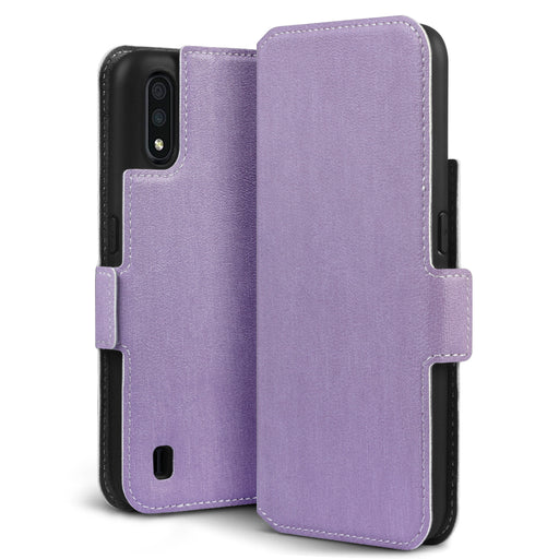 Terrapin Samsung Galaxy A01 Low Profile PU Leather Wallet Case - Purple