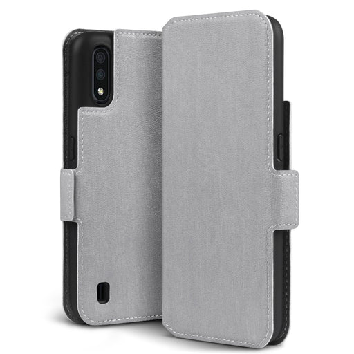 Terrapin Samsung Galaxy A01 Low Profile PU Leather Wallet Case - Grey