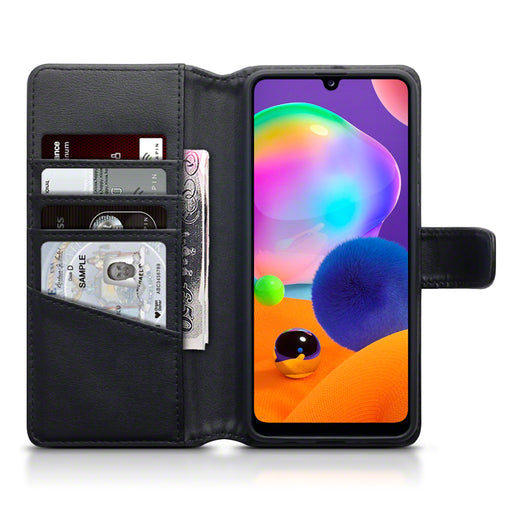 Terrapin Samsung Galaxy A31 Real Leather Wallet Case - Black