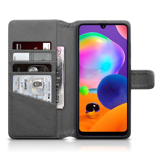 Terrapin Samsung Galaxy A31 Real Leather Wallet Case - Grey