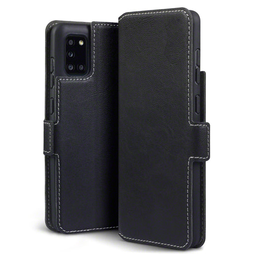 Terrapin Samsung Galaxy A31 Low Profile PU Leather Wallet Case - Black