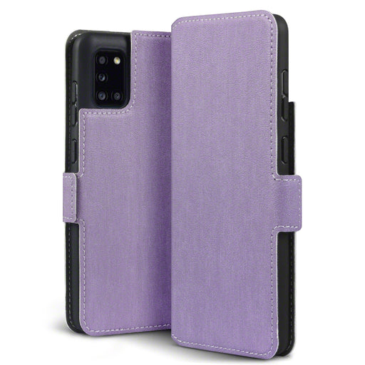 Terrapin Samsung Galaxy A31 Low Profile PU Leather Wallet Case - Purple