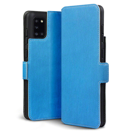Terrapin Samsung Galaxy A31 Low Profile PU Leather Wallet Case - Light Blue