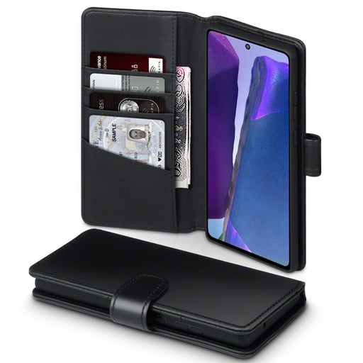 Terrapin Real Leather Wallet Case - Black for Samsung Galaxy Note 20