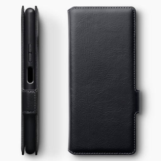 Terrapin Sony Xperia 20 Low Profile Genuine Leather Wallet Case - Black