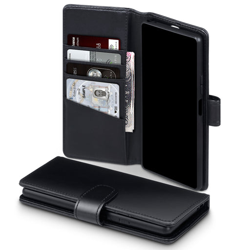 Terrapin Sony Xperia 20 Real Leather Wallet Case - Black