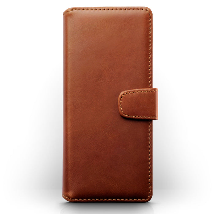 Terrapin Sony Xperia 5 Real Leather Wallet Case - Cognac