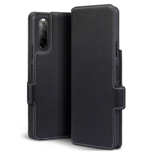 Terrapin Sony Xperia 10 II Low Profile PU Leather Wallet Case - Black
