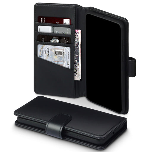 Terrapin Huawei P40 Real Leather Wallet Case - Black