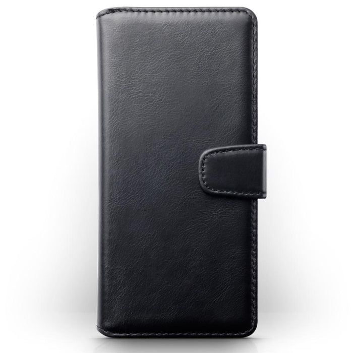 Terrapin Genuine Leather Wallet Case for Sony Xperia 10 Plus - Black