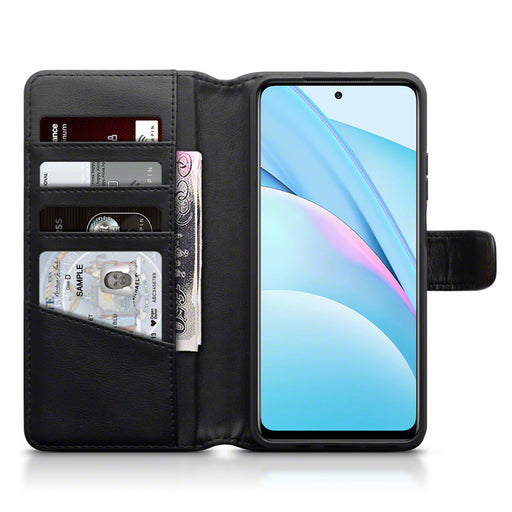 Terrapin Xiaomi Mi 10T Lite 5G Real Leather Wallet Case - Black