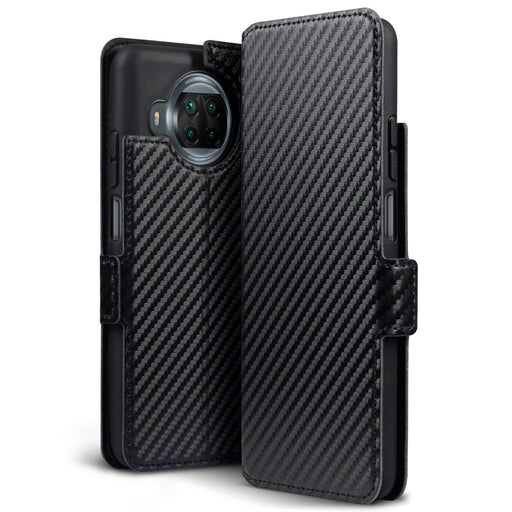 Terrapin Xiaomi Mi 10T Lite 5G Low Profile PU Leather Wallet Case - Black Carbon Texture