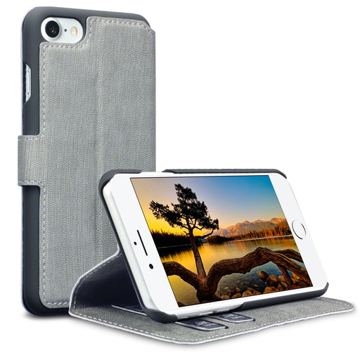 Terrapin Apple iPhone 7/8 Low Profile PU Leather Wallet Case - Grey