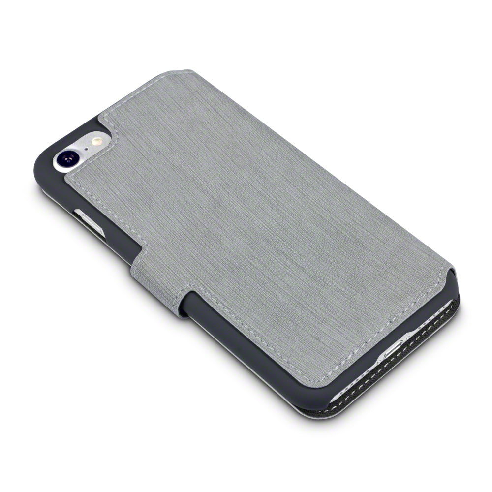 Terrapin Apple iPhone 7 Low Profile PU Leather Wallet Case - Grey