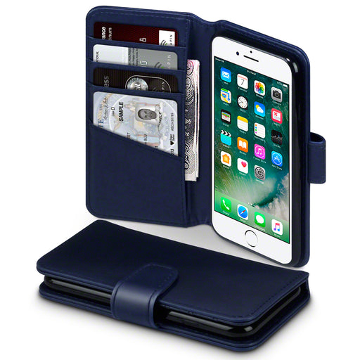 Terrapin iPhone 8 / iPhone 7 Real Leather Wallet Case - Blue