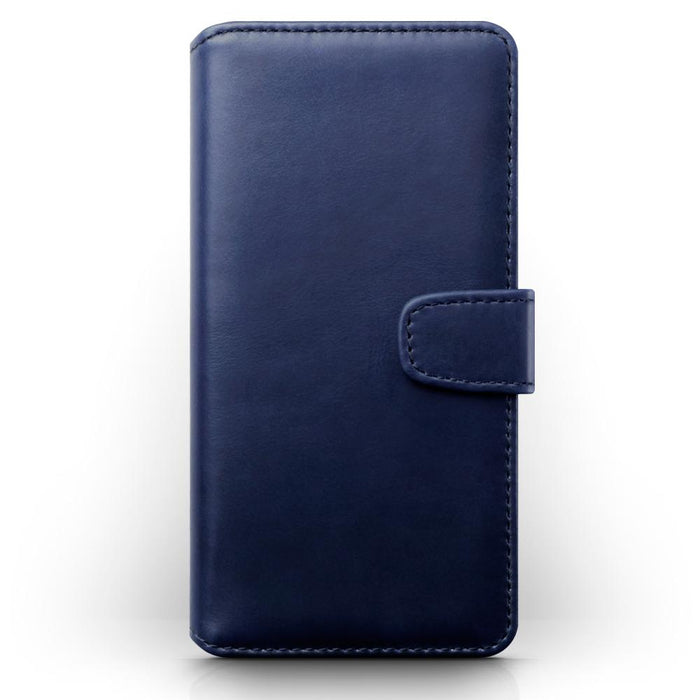 Terrapin Real Leather Wallet Case for Samsung Galaxy A01 - Blue