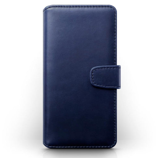 Terrapin Real Leather Wallet Case - Blue for Samsung Galaxy S20 Plus