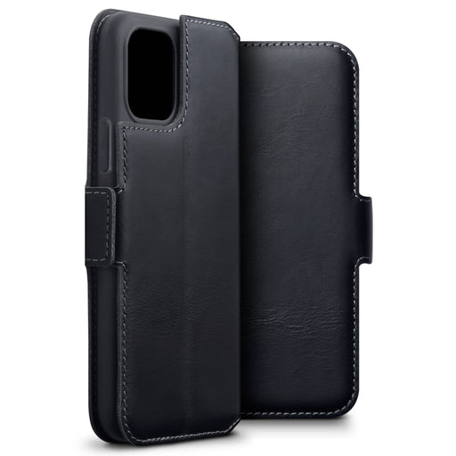 Terrapin Apple iPhone 2019 5.8 Inch Slim Profile Genuine Leather Wallet Case - Black