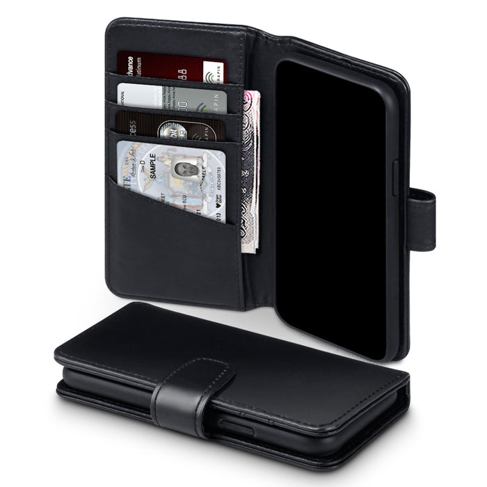 Terrapin Apple iPhone 2019 5.8 Inch Genuine Leather Wallet Case - Black